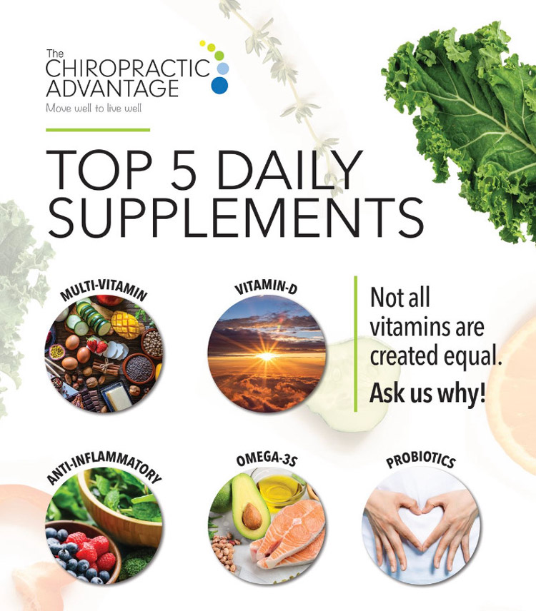 Top 5 Daily Supplements at The Chiropractic Advantage